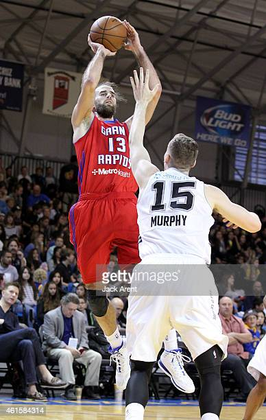 Gigi Datome of the Grand Rapids shoots the ball against the Austin Spurs during the 2015 NBA DLeague Showcase presented by SAMSUNG on January 15 2015...