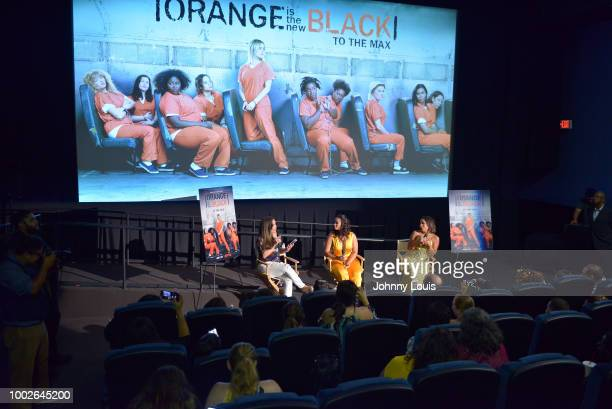 Gigi Diaz hosted a QA with Dascha Polanco and Selenis Leyva after the 'Orange Is The New Black' Netflix TV show screening at Cinepolis Coconut Grove...