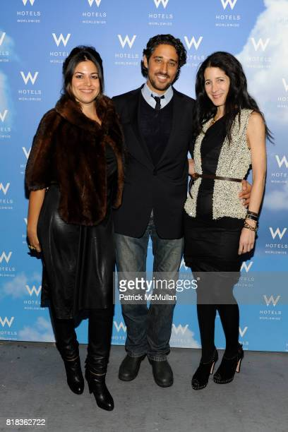 Gigi Ganatra Duff Michelangelo L'Acqua and Amanda Ross attend Cocktails in honor of W Hotels' newly appointed Fashion Director at W Lounge on...
