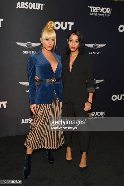 Gigi Gorgeous and Isis King attend OUT Magazine's Power 50 Award Celebration Presented By Genesis at NeueHouse Los Angeles on September 27 2018 in...