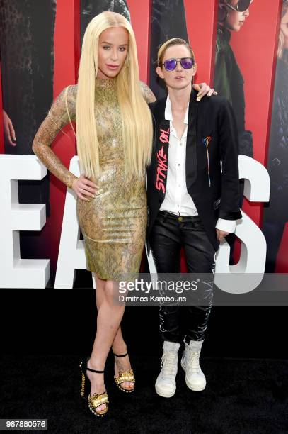 Gigi Gorgeous and Nats Getty attend 'Ocean's 8' World Premiere at Alice Tully Hall on June 5 2018 in New York City