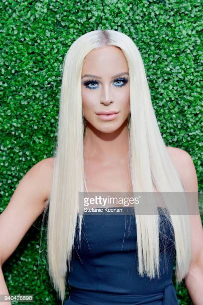 Gigi Gorgeous attends KKWxMario Dinner at JeanGeorges Beverly Hills on March 31 2018 in Beverly Hills California