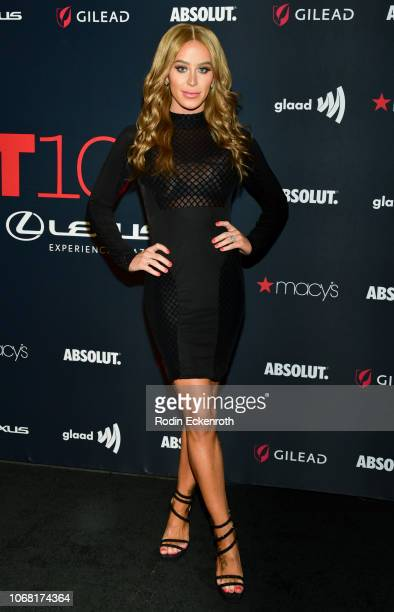 Gigi Gorgeous attends Out Magazine's OUT100 Awards Celebration Presented By Lexus at Quixote Studios on November 15 2018 in Los Angeles California