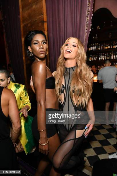 Gigi Gorgeous attends Rose Bar Pride Party hosted by Christian Siriano Bethany C Meyers and Nico Tortorella at Rose Bar at Gramercy Park Hotel on...