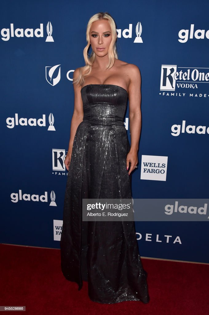 Gigi Gorgeous attends the 29th Annual GLAAD Media Awards at The Beverly Hilton Hotel on April 12, 2018 in Beverly Hills, California.