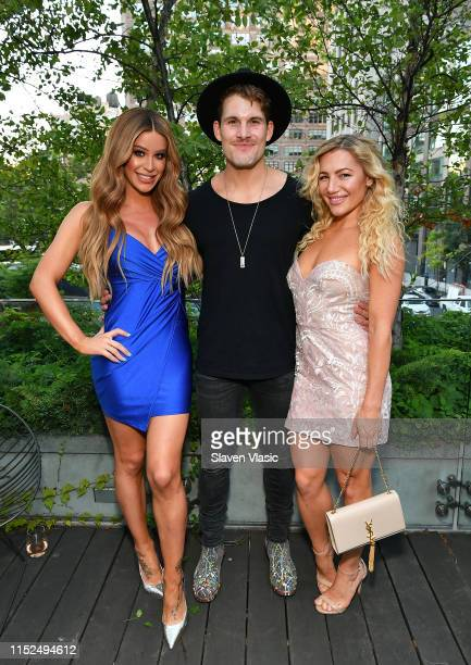 Gigi Gorgeous Conrad Louis and Hayley Paige attend Adore Me x Pride 2019 hosted By Gigi Gorgeous at Gitano on June 27 2019 in New York City