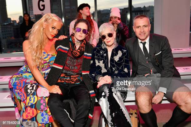 Gigi Gorgeous Nats Getty Lyn Slater and designer Thom Brown attend the Libertine fashion show during New York Fashion Week The Shows at Gallery II at...