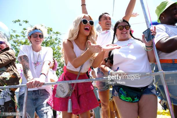 Gigi Gorgeous rides in the LA Pride Parade on June 9, 2019 in West Hollywood, California.
