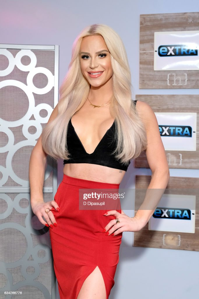 Gigi Gorgeous visits 'Extra' on February 8, 2017 in New York City.