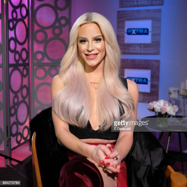 "Gigi Gorgeous visits ""Extra"" on February 8, 2017 in New York City."