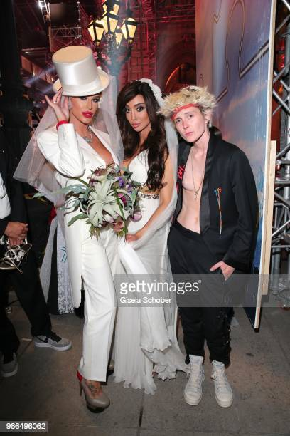 Gigi Gorgeous Yasmine Petty and Nats Getty attend the Life Ball 2018 after show party at City Hall on June 2 2018 in Vienna Austria The Life Ball an...