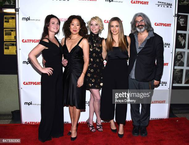 Gigi Graff Sandra Oh Anne Heche Alicia Silverstone and Onur Tukel attend the premiere of Dark Sky Films' 'Catfight' at Cinefamily on March 2 2017 in...