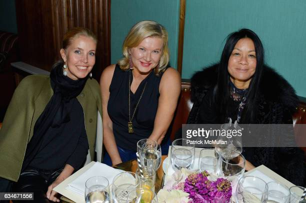 Gigi Grimstad Liliana Cavendish and Helen Lee Schifter attend the Nicole Miller Fall 2017 After Party on February 10 2017 in New York City