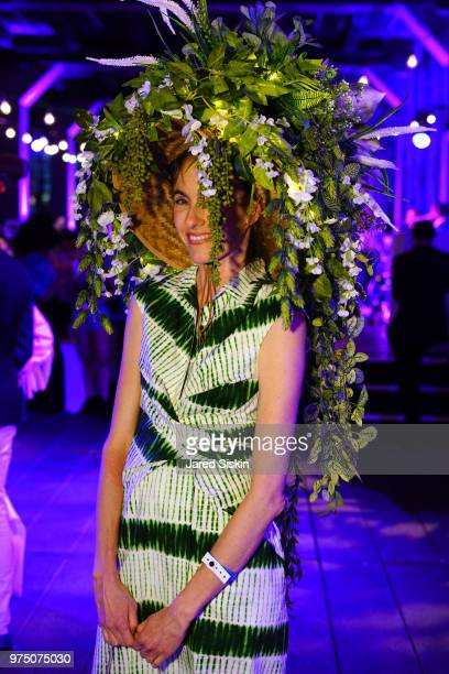 Gigi Guerra attends the 2018 High Line Hat Party at the The High Line on June 14 2018 in New York City