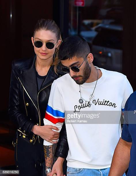 Gigi Hadid and boyfriend Zayn Malik seen out in NoHo on June 10 2016 in New York City