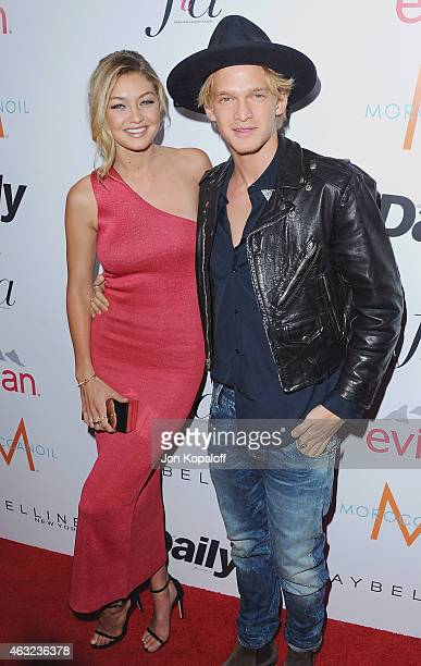 Gigi Hadid and Cody Simpson arrive at The Daily Front Row's 1st Annual Fashion Los Angeles Awards at Sunset Tower Hotel on January 22 2015 in West...