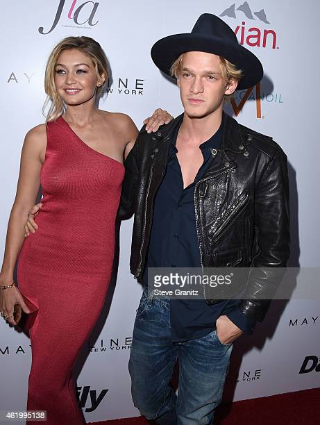 Gigi Hadid and Cody Simpson arrives at the The Daily Front Row's 1st Annual Fashion Los Angeles Awards at Sunset Tower Hotel on January 22 2015 in...