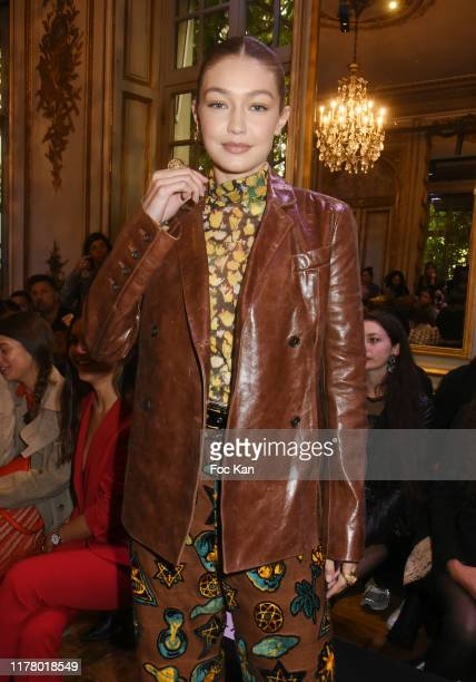 Gigi Hadid and guests attends the Each x Other Womenswear Spring/Summer 2020 show as part of Paris Fashion Week on September 29, 2019 in Paris,...
