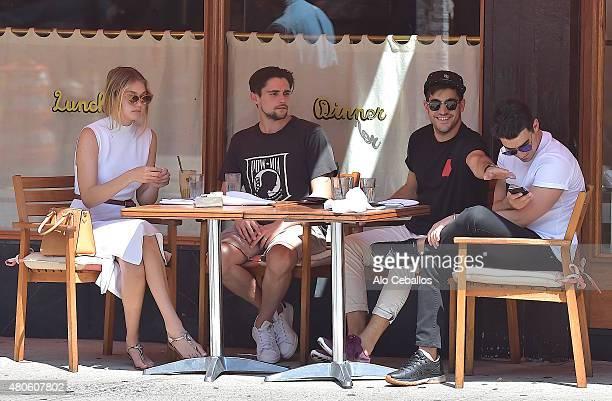 Gigi Hadid and Joe Jonas are seen in Soho on July 13 2015 in New York City