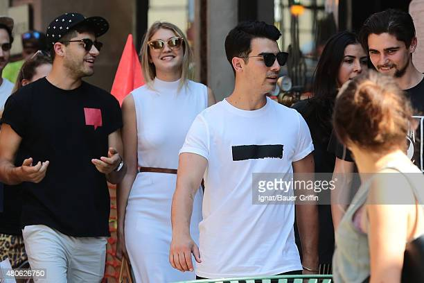 Gigi Hadid and Joe Jonas are seen on July 13 2015 in New York City