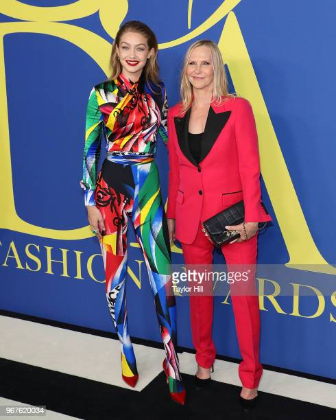 Gigi Hadid and Laura Brown attend the 2018 CFDA Awards at Brooklyn Museum on June 4 2018 in New York City