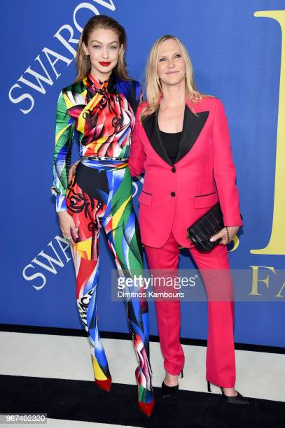 Gigi Hadid and Laura Brown attend the 2018 CFDA Fashion Awards at Brooklyn Museum on June 4 2018 in New York City
