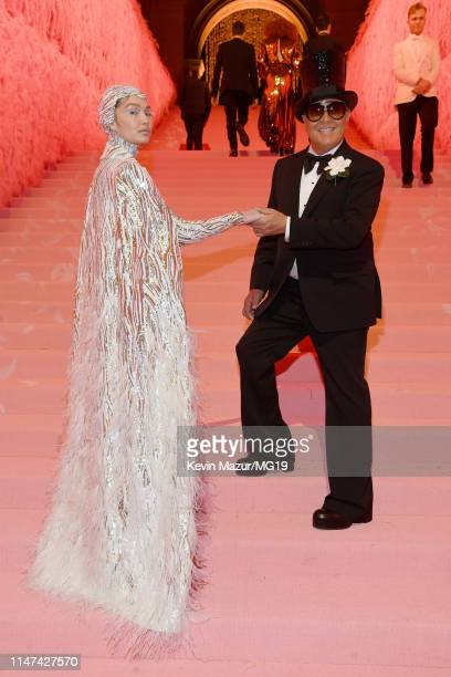 Gigi Hadid and Michael Kors attend The 2019 Met Gala Celebrating Camp: Notes on Fashion at Metropolitan Museum of Art on May 06, 2019 in New York...