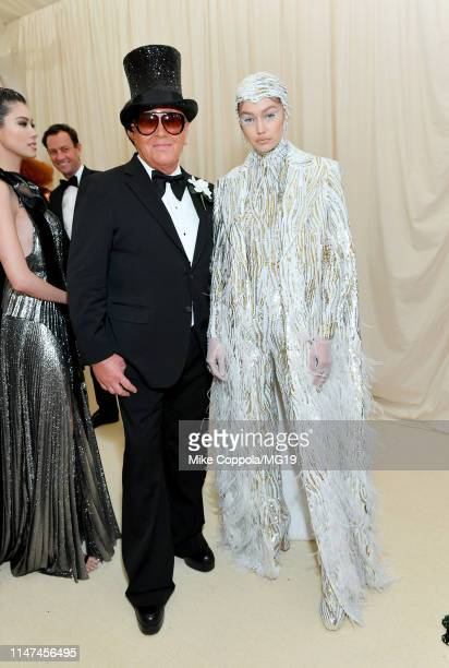 Gigi Hadid and Michael Kors attends The 2019 Met Gala Celebrating Camp Notes on Fashion at Metropolitan Museum of Art on May 06 2019 in New York City