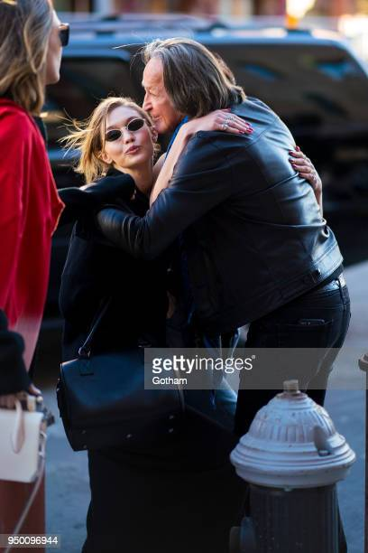 Gigi Hadid and Mohamed Hadid are seen in the Meat Packing District on April 22 2018 in New York City
