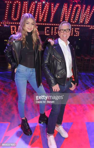 Gigi Hadid and Tommy Hilfiger attend the Tommy Hilfiger TOMMYNOW Fall 2017 Show during London Fashion Week September 2017 at The Roundhouse on...