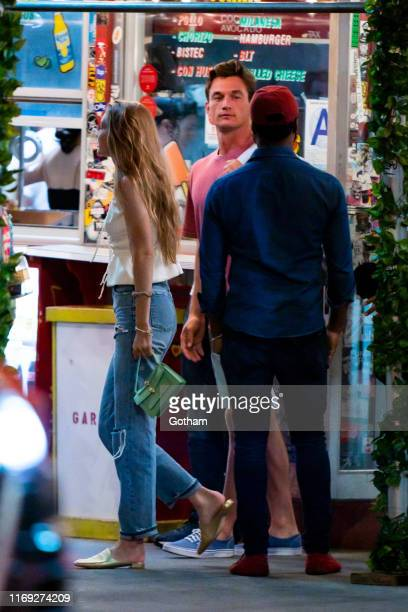 Gigi Hadid and Tyler Cameron are seen in SoHo on August 20 2019 in New York City