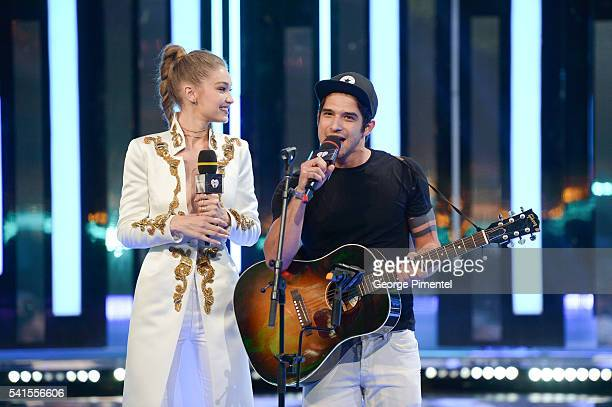 Gigi Hadid and Tyler Posey at the 2016 iHeartRADIO MuchMusic Video Awards at MuchMusic HQ on June 19 2016 in Toronto Canada