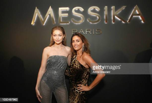 Gigi Hadid and Valerie Messika attend the MESSIKA Party NYC Fashion Week Spring/Summer 2019 Launch Of The Messika By Gigi Hadid New Collection at...