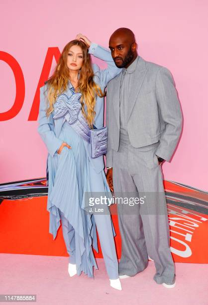 Gigi Hadid and Virgil Abloh attend the CFDA Awards on June 3 2019 in New York City