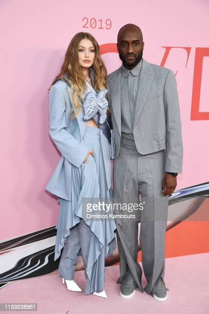 Gigi Hadid and Virgil Abloh attend the CFDA Fashion Awards at the Brooklyn Museum of Art on June 03 2019 in New York City