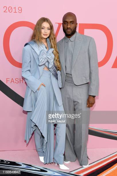 Gigi Hadid and Virgil Abloh attend the CFDA Fashion Awards at the Brooklyn Museum of Art on June 03, 2019 in New York City.