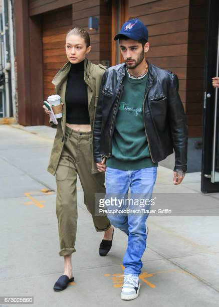 Gigi Hadid and Zayn Malik are seen on April 25 2017 in New York City