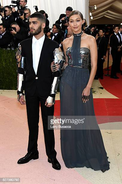 """Gigi Hadid and Zayn Malik attend the """"Manus x Machina: Fashion In An Age Of Technology"""" Costume Institute Gala at Metropolitan Museum of Art on May..."""