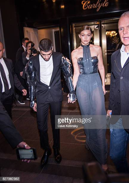 Gigi Hadid and Zayn Malik departs The Carlyle on May 2 2016 in New York City