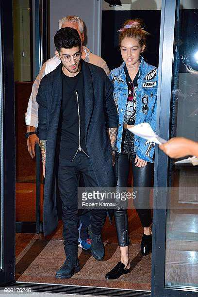 Gigi Hadid and Zayn Malik seen out on September 15 2016 in New York City