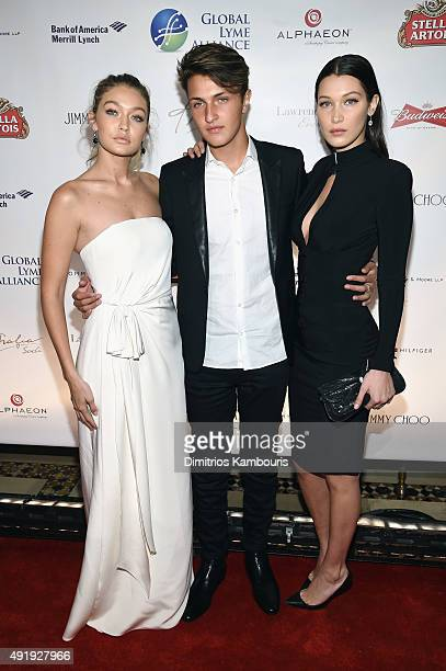 Gigi Hadid Anwar Hadid and Bella Hadid attend the Global Lyme Alliance Uniting for a LymeFree World Inaugural Gala at Cipriani 42nd Street on October...