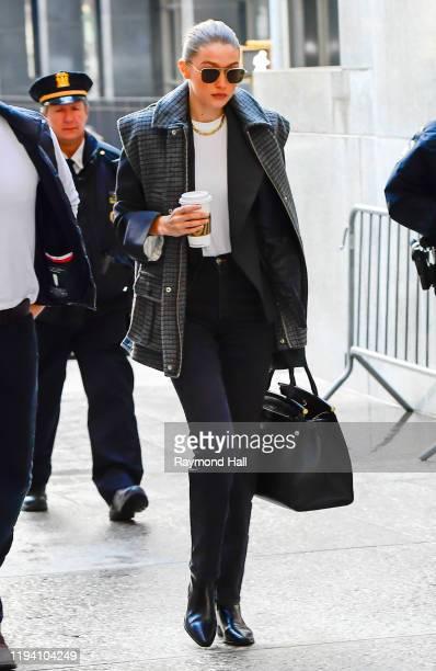 Gigi Hadid arrives at Manhattan Criminal Court on January 16, 2020 in New York City.