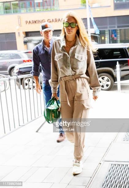Gigi Hadid arrives at Rihanna's Fenty show at Barclays Center on September 10, 2019 in New York City.