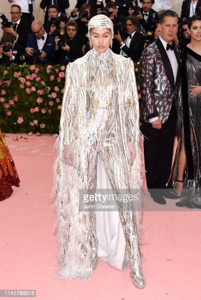 Gigi Hadid arrives at the 2019 Met Gala Celebrating Camp Notes On Fashion at The Metropolitan Museum of Art on May 6 2019 in New York City