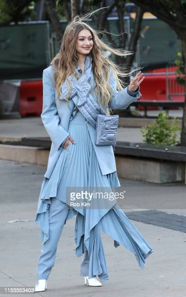 Gigi Hadid arrives for 2019 CFDA Fashion Awards at Brooklyn Museum on June 03 2019 in New York City