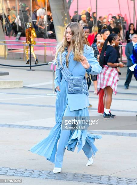 Gigi Hadid arrives for the 2019 CFDA fashion awards at the Brooklyn Museum on June 3 2019 in New York City