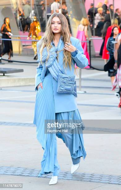 Gigi Hadid arrives for the 2019 CFDA fashion awards at the Brooklyn Museum on June 3, 2019 in New York City.