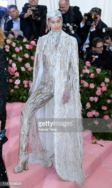 Gigi Hadid arrives for the 2019 Met Gala celebrating Camp Notes on Fashion at The Metropolitan Museum of Art on May 06 2019 in New York City