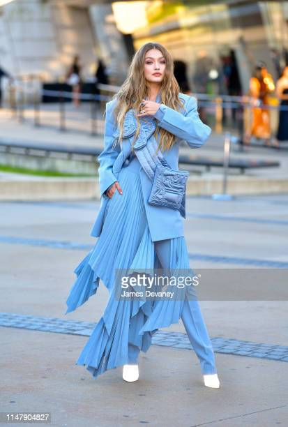 Gigi Hadid arrives to the 2019 CFDA Fashion Awards at Brooklyn Museum on June 3 2019 in New York City