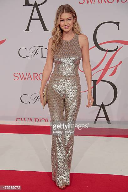 Gigi Hadid attend the 2015 CFDA Fashion Awards at Alice Tully Hall at Lincoln Center on June 1 2015 in New York City